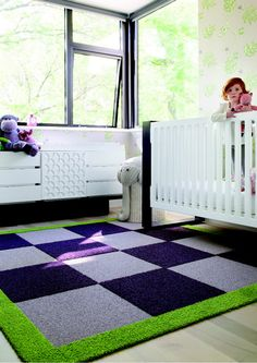 Create your perfect #nursery #rug with #Flor tiles.