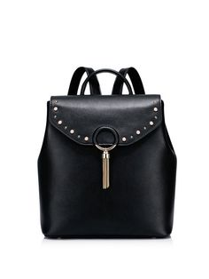 Shop Backpacks - Small Casual Magnetic Cowhide Leather Backpack online. Discover unique designers fashion at StyleWe.com.