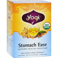 Yogi Organic Stomach Ease Herbal Tea - 16 Tea Bags - Case of 6 - Yogi Organic Stomach Ease Herbal Tea Description:  Supports Healthy Digestion Relieves Occasional Indigestion Heartburn and Gas. Stomach Ease is formulated to relieve occasional heartburn and indigestion as it soothes the digestive tract. Made with organic Fennel (Foeniculum vulgare) this healing formula provides relief when you are feeling bloated have an upset stomach or have eaten a little too much.For centuries Ayurvedic…