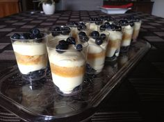 Mirtilli tiramisu shots