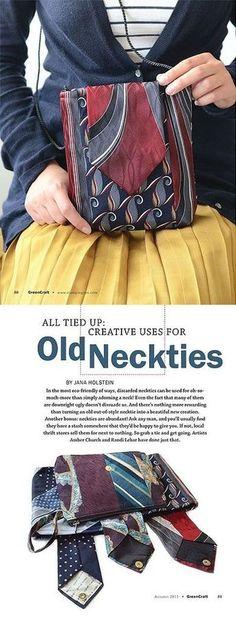Ne jeter plus les cravates recycler les ! Les sacs