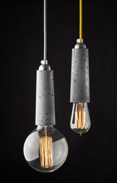 Falcon - lightweight concrete pendant lamp