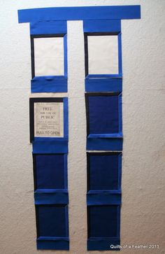 Quilts of a Feather: Designing a new TARDIS quilt