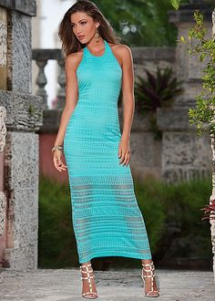 Lace detail maxi dress in the VENUS Line of Dresses for Women