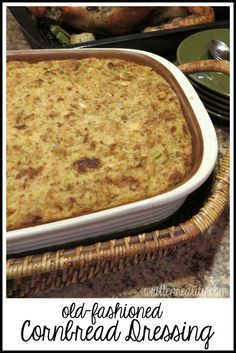 This traditional cornbread dressing recipe is moist, delicious, and super easy to make!