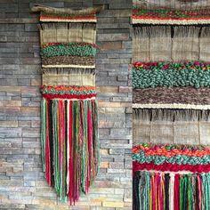 Woven wall hanging por Telaresyflecos en Etsy