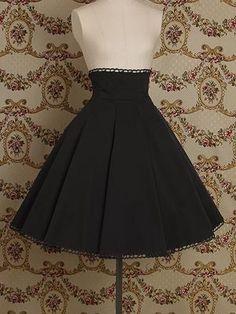 Victorian Maiden Editing high waist skirt (front; Black)   Flickr