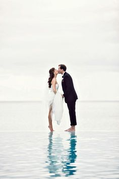 The perfect beach wedding photo. #celebstylewed