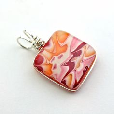 Wire Wrapped Pink Orange Red and Pearl White by ClassyJewelryShop