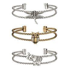 Antiqued Animal Cuff Bracelet - Dragonfly, Owl, Elephant - Regular price $19.99 | AVON - Shop for Avon Jewelry at: https://www.avon.com/category/jewelry?rep=barbieb