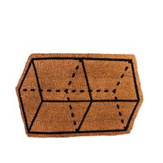 This geometric door mat by Drake General Store will prepare your guests for entry into your funky abode.
