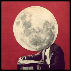 The moonhead by Merve Ozaslan  #collage