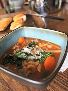 meals like this Springtime Minestrone with Sausage are perfect. It's warm and comforting but contains lots of spring veggies that bring a little brightness.