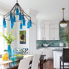 You voted, and the winning hue for 2014 is turquoise! Discover the many ways you can infuse your home with this quintessential coastal color.
