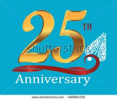 25th golden anniversary logo with white indonesia shadow puppet ornament