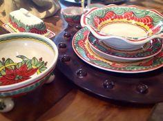 Festive Gorky pottery at Rio de Ojas in Claremont, Ca.