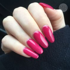 Raspberry Pink Red Bright Summer Nails