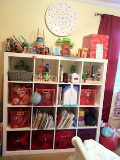 The IKEA Expedit - great toy organizer in a toddler room!