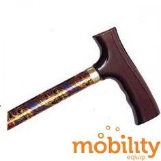 Alex Orthopedics - MP-10506 - Adjustable Travel Folding Cane With Fritz Handle