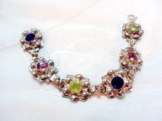 Vintage Sterling Silver Flower Link Bracelet by by bitzofglitz4u, $165.00