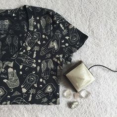 • Grey Psychic Tee • Only worn once or twice. In great condition! Beautiful new-age psychic inspired pattern. Purchased from PacSun. Brand Nollie. PacSun Tops Tees - Short Sleeve