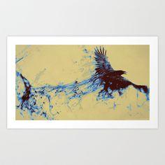 crow Art Print by kanakiki - $16.00