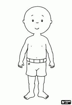 Caillou Dress Up Game Coloring Page