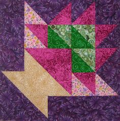 Basket Quilt Block Patterns in Lots of Styles and Sizes: Grape Basket Quilt Block Pattern (10-inches)