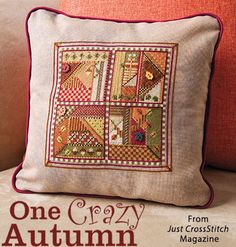 One Crazy Autumn from the Sep/Oct 2016 issue of Just CrossStitch Magazine. Order a digital copy here: https://www.anniescatalog.com/detail.html?prod_id=133007