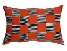 Coussin décoration: Hot stillscape orange Par Jennifer Shorto textiles