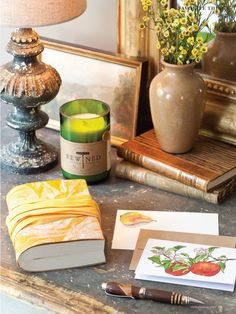 Rigel Stuhmiller's Apple notecards in Victoria Magazine