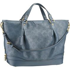 Louis Vuitton Bags Online   ... Bags And Totes Mahina Leather Louis Vuitton Stellar GM Marine M93464