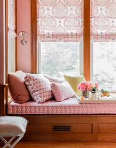 """WINDSOR PINK: Dubbed """"millennial pink"""" by The Cut, the peach-salmon hybrid refuses to go away. """"Not too juvenile or too twee or too sweet, it acts like a neutral,"""" says designer Lisa Tharp. Click through for more color trends of Rosa Millennial, Fine Paints Of Europe, Millenial Pink, European Home Decor, Pink Room, My New Room, Modern Interior Design, Interior Styling, Home Decor Bedroom"""
