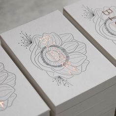 This is a beautiful business card. Grey litho to rose gold letterpress business cards Foil Business Cards, Letterpress Business Cards, Business Card Logo, Business Card Design, Beauty Business Cards, Simple Business Cards, Creative Business, Logo Design, Branding Design