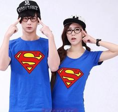Superman T-shirts for Couple: Pack of 2 Tees in Pakistan - Juniba. Superman T Shirt, Couple Tshirts, Deal Today, Couples, Tees, Stuff To Buy, Fashion, Moda, T Shirts
