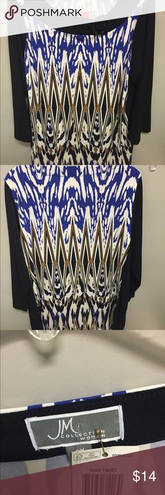 JM Collection blouse 0X New with tags from Macy's J M collection Tops Blouses