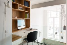 Fanciful Fold Away Desk 20 Space Saving Down View In Gallery Contemporary Office Area With A Argo Wall Mounted Nz Bed Australium Uk Cabinet Top - Whatever the best architecture we have Fold Away Desk, Fold Out Desk, Folding Desk, Desk Flip, Bookcase Desk, Large Bookshelves, Hidden Desk, Built In Desk, Bedroom Storage For Small Rooms