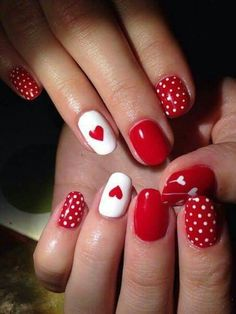 50 Trendy Acrylic Nail Designs for Valentine's Day 50 Trendy Acrylic Nail. - 50 Trendy Acrylic Nail Designs for Valentine's Day 50 Trendy Acrylic Nail Designs for Valen - Red Nail Art, Pretty Nail Art, Red Nails, Valentine's Day Nail Designs, Acrylic Nail Designs, Acrylic Nails, Nails Design, Coffin Nails, Valentine Nail Art