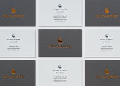 Butarose business card designed by Ascend Studio.