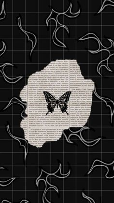 Butterfly Wallpaper Iphone, Cartoon Wallpaper Iphone, Iphone Wallpaper Tumblr Aesthetic, Black Aesthetic Wallpaper, Iphone Background Wallpaper, Retro Wallpaper, Tumblr Wallpaper, Dark Wallpaper, Aesthetic Wallpapers