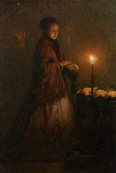 Petrus Van Schendel : Selling game at the Groenmarkt in the Hague 1868