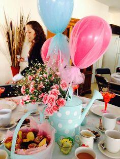 decoracion con globos y tul