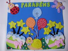 A magica do EVA: Sala de aula/Painel aniversariantes