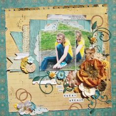"Michelle's Scrap Designs: Dream with every breath ""Natural"" collection papers and alpha stickers by Authentique"