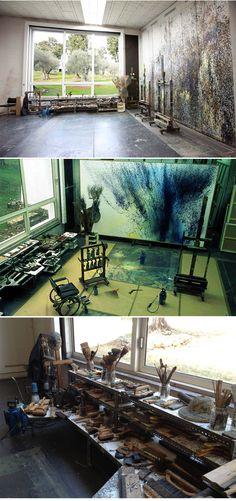 Hans Hartung's studio