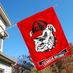 UGA House Flag, any design, vertical orientation will hang in garage.