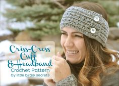 free crochet headband and cuff {pattern} | Little Birdie Secrets