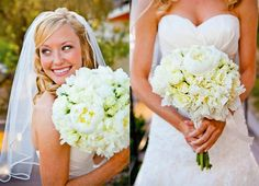 White Peony and White Rose Bouquet The Riveria Palm Springs
