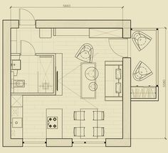 Планировка квартиры 31 кв. м.