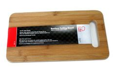 Chef Craft 21588 1-Piece 7-1/2 by 14 Bamboo Cutting Board, Brown by Chef Craft. $10.48. Keeps knives sharper longer than with use of other cutting boards. Bamboo cutting board. This 14-inch cutting board is made from bamboo which protects you counter top as you cut and slice fruits, vegetables, meats and more for your meals. This cutting board is long lasting and the increased durability helps to prevent chipping and cracking.